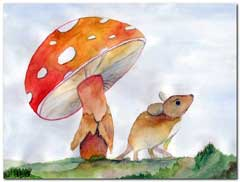 Mouse and toadstool