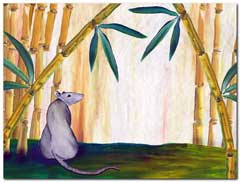 Rat and bamboo